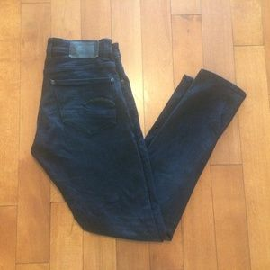 Mens G Star Raw Super slim dark wash jeans